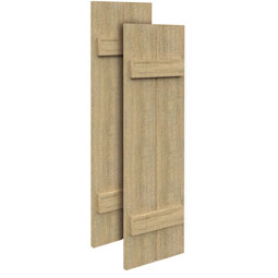 SH2PC Rough Sawn Shutters