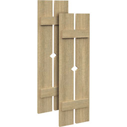 SH2PD Rough Sawn Shutters