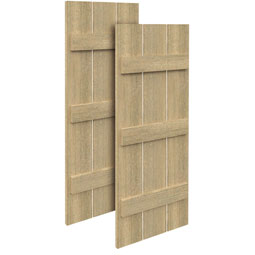 SH3P3B Rough Sawn Shutters