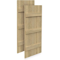 SH3P3BC Rough Sawn Shutters