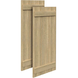 SH3PC Rough Sawn Shutters