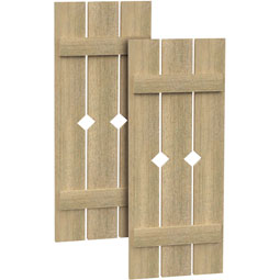 SH3PD Rough Sawn Shutters
