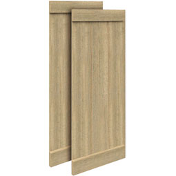 SH3PEBC Rough Sawn Shutters