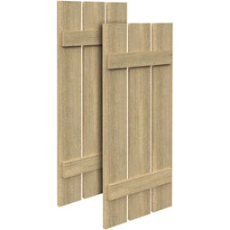 SH3PO Rough Sawn Shutters