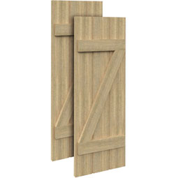 SH3PZC Rough Sawn Shutters