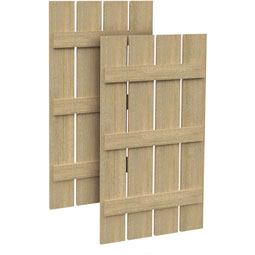 SH4P3B Rough Sawn Shutters