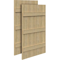 SH4P3BC Rough Sawn Shutters