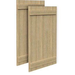SH4PC Rough Sawn Shutters