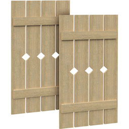 SH4PD Rough Sawn Shutters