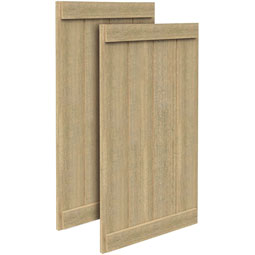 SH4PEBC Rough Sawn Shutters