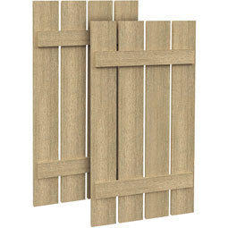SH4PO Rough Sawn Shutters