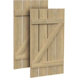 SH4PZ Rough Sawn Shutters
