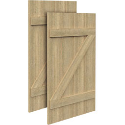 SH4PZC Rough Sawn Shutters