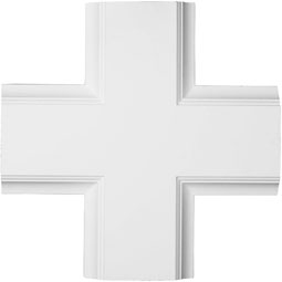 "20""W x 2""P x 20""L Inner Cross Intersection for 8"" Traditional Coffered Ceiling System"
