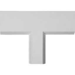 "14""W x 2""P x 20""L Perimeter Tee for 5"" Traditional Coffered Ceiling System"