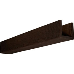 3-Sided (U-beam) Rough Sawn Endurathane Faux Wood Ceiling Beam
