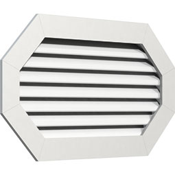 Horizontal Elongated Octagon PVC Gable Vent