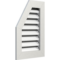 Half Octagon Top Left PVC Gable Vent