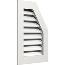 Half Octagon Top Right PVC Gable Vent