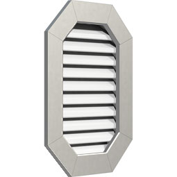 Vertical Elongated Octagon PVC Gable Vent