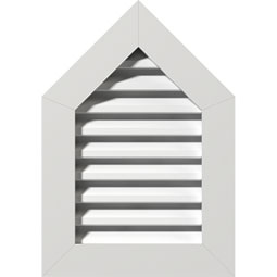 GVPPE PVC Gable Vents