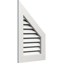 Half Peaked Top Right PVC Gable Vent