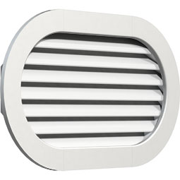 Horizontal Round Ended PVC Gable Vent