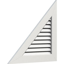 Right Triangle PVC Gable Vent - Left Side