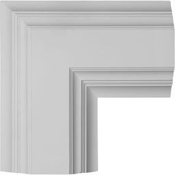 "14""W x 4""P x 14""L Inner Corner for 8"" Deluxe Coffered Ceiling System (Kit)"