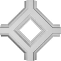 "36""W x 4""P x 36""L Inner Diamond Intersection for 8"" Deluxe Coffered Ceiling System (Kit)"
