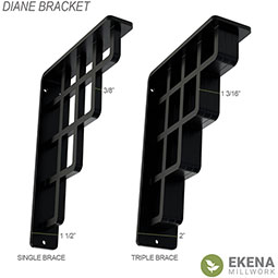 Diane Wrought Iron Bracket