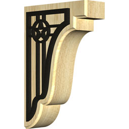 Bedford Wood Bracket w/ IronCraft Austin Inlay
