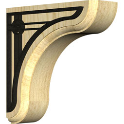 BKTWEAAU Wood Brackets w/ Ironcraft Inlays