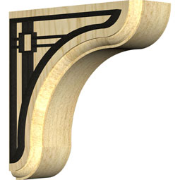 BKTWEABR Wood Brackets w/ Ironcraft Inlays