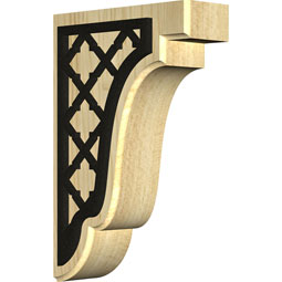Bedford Wood Bracket w/ IronCraft Flur Inlay