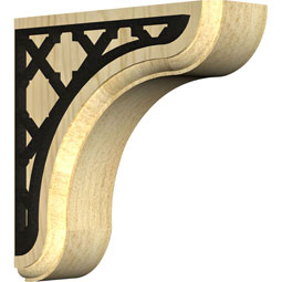BKTWEAFL Wood Brackets w/ Ironcraft Inlays