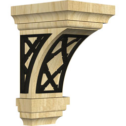 CORWJEFL Wood Brackets w/ Ironcraft Inlays