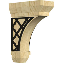 BKTSTFL Wood Brackets w/ Ironcraft Inlays