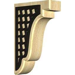 Bedford Wood Bracket w/ IronCraft Mosaic Inlay