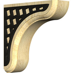 BKTWEAMO Wood Brackets w/ Ironcraft Inlays