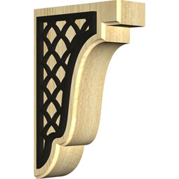 Bedford Wood Bracket w/ IronCraft Nevio Inlay