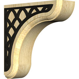 BKTWEANE Wood Brackets w/ Ironcraft Inlays