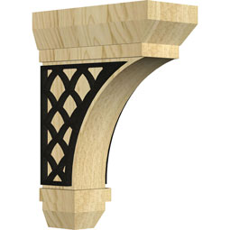 BKTSTNE Wood Brackets w/ Ironcraft Inlays