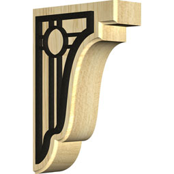 Bedford Wood Bracket w/ IronCraft Portland Inlay