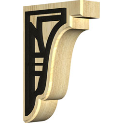 Bedford Wood Bracket w/ IronCraft Solvang Inlay