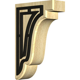 Bedford Wood Bracket w/ IronCraft Traditional Inlay