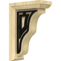 BKTWHATR Wood Brackets w/ Ironcraft Inlays