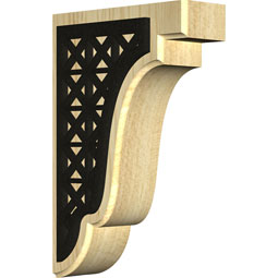 Bedford Wood Bracket w/ IronCraft Trellis Inlay