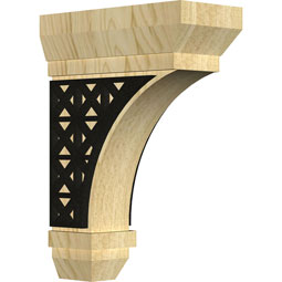 BKTSTTL Wood Brackets w/ Ironcraft Inlays