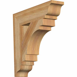 Merced Traditional Rustic Timber Wood Bracket